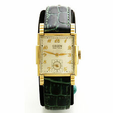 Vintage Gruen Veri-Thin Wrist Watch with Triple Faceted Crystal & Fancy Case