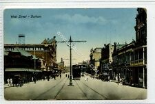 (Ga1548-175) Trams on West Street, DURBAN, South Africa c1910 G-VG