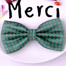 Green Geometric Fashion Bow Tie Red Candy Drones Novelty Vintage Tuxedo Party GQ