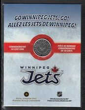 K23 CANADA 50c - 50 CENTS COIN 2011 WINNIPEG JETS IN COLORIZED FOLDER - UNC