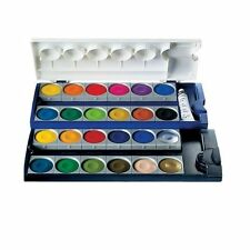 7Pelikan Opaque Watercolor Paint Set, 24 Colors Plus Chinese White Tube (720862)