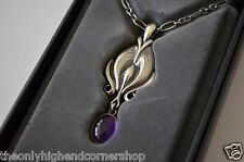 BRAND NEW GEORG JENSEN Silver Pendant Annual 2012 Heritage Necklace Amethyst