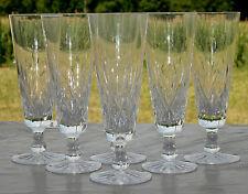 Cristallerie de Lorraine Lemberg -Service de 6 flûtes à champagne cristal taillé