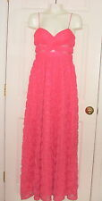 NWT CORAL Pink Chiffon Mesh ROSE/SEQUINS Bridesmaid Formal Pageant Prom GOWN - 4