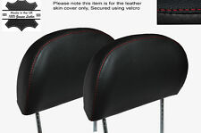 RED STITCHING 2X FRONT HEADREST LEATHER SKIN COVERS FITS MG MGF MGTF 95-05