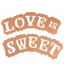 Romentic burlap Love Is Sweet rustic Wedding Banner Bunting Table Decor set