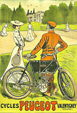 Art Ad Cycles Bicycle Bike Peugeot  Cycle   Deco   Poster Print