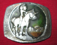 Indian Brave on Horse Metal 1978 Belt Buckle by Instyle #1776