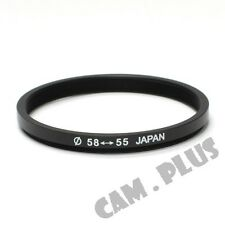 58-55mm Step-Down Metal Lens Adapter Filter Ring / 58mm Lens to 55mm Accessory