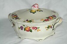Vtg Grindley Marlborough Royal Petal Covered Tureen/Serving Bowl/Casserole-Fruit