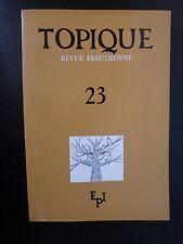 Psychanalyse : Topique Revue Freudienne n°23 - Sans titre