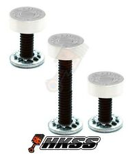 3 Silver Billet Vent Windshield Bolts For 14-Up Harley  - 45 AUTO BULLET S AYF