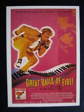 Filmplakatkarte  cinema  Great Balls of Fire! - Ein Leben für den Rock´n´Roll