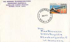 Stamp Australia Satellite Earth Station cachet plain cover 1971 Moree postmark