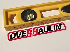 Overhaulin' Early Original Vintage Decal Sticker 2004 Chip Foose Courtney Hansen
