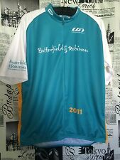 Louis Garneau Butterfield Robinson Teal Cycling Jersey 3/4 Zip Men XL Women 3XL