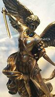 Archangel- Saint St. Michael Tramples Demon Statue Sculpture Figure