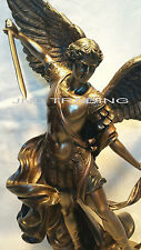 Archangel- Saint St. Michael Tramples Demon Statue Sculpture Figure