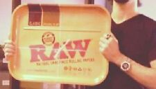 """NEW """"RAWnormous"""" XXL RAW papers Metal Rolling Tray HUGE! Biggest Yet! 20"""" X 15"""""""
