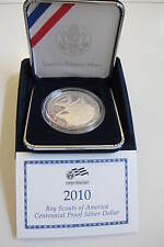 2010 BOY SCOUTS of AMERICA PROOF SILVER DOLLAR