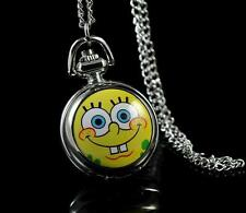 SpongeBob SquarePants Necklace Pocket Watch Child Boy Girl Watch Fashion
