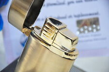 Large COHIBA Flip Top Metal 3 Torch Jet Flame Cigar Cigarette Lighter 24K Gold
