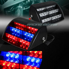 18 LED RED & BLUE CAR EMERGENCY WARNING DASHBOARD FLASH STROBE LIGHT UNIVERSAL 9