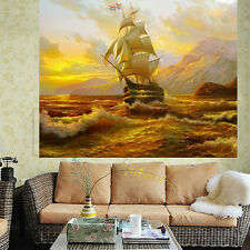 5D Diamond Sailing Ship Embroidery Painting Cross Stitch Kit DIY Home Decor