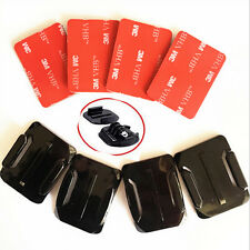 8Pcs 3M Gopro Hero 4/3+/3/2 4 Pack Flat+Curved Adhesive Helmet Sticky Mount Set