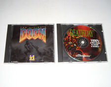 Ultimate Doom + Deathday 1000 Levels PC CD-ROM Game Lot 1995 2 Discs Rare
