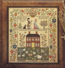 NEEDLE AND PINS WEDDING SAMPLER--Victorian--House--Counted Cross Stitch Pattern