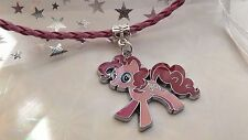 MY LITTLE PONY PINKY PIE  PINK LEATHERET NECKLACE AGE 3,4,5,6,7, GIFT BOX ,MAGIC