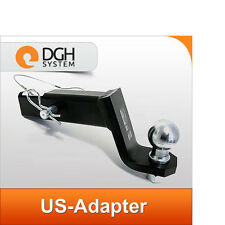 "Towbar ball adapter USA 2"" hitch hook Land Range Rover & Sport / Evoque"