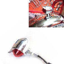 Bobber Old School Stop Brake Running Tail Light W/ Visor Cafe Racer Vintage Bike