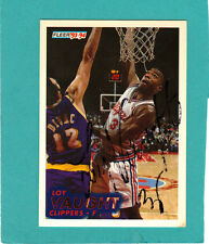 LOY VAUGHT Hand Signed 93-94 Fleer Basketball Card #96