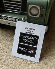 Land Rover Series Military IR Lightweight Infrared Headlight Switch Decal 589196