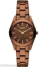 DKNY Women's Brown Glitz Steel Watch NY8621