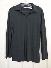 Josephine Chaus Studio Gray Long Sleeve Top Size Medium