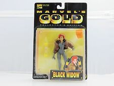 Marvel's Gold BLACK WIDOW Collector's Edition Action Figure NEW 1998 ToyBiz