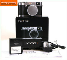 Fuji x100t 16.3 MP fotocamera digitale corpo, batterie, caricabatterie 9,000 Shot Gratis UK