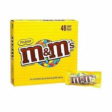 M&M's MM Milk Chocolate Peanut Candy Candies 1.74 oz Bags 48 ct Box