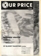 16/11/91 Pgn50 Advert: My Bloody Valentine loveless New Album Out Now 15x11""