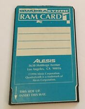 ALESIS  QuadraSynth RAM CARD 1 - works in all QS series keyboards-QS6, 7, 8 etc.