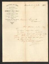 """MONTPELLIER (34) CHIFFONS / EFFILOCHAGES PEAUX """"BOUSCARY / DUMAS Ainé Succ"""" 1902"""