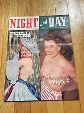 VINTAGE NIGHT AND DAY PICTURE MAGAZINE MEN'S PIN UP MAY 1949 VOL. 1 NO. 4