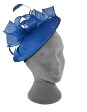 COBALT BLUE WEDDING ASCOT OCCASION FASCINATOR DISC HAT MOTHER OF THE BRIDE