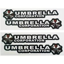 4PCS Resident Evil Umbrella Corporation Logo Glue Sticker Car Decal Bio hazard