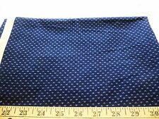 """Cotton polyester blend fabric-navy blue with tiny white tear drop print-30"""" x 44"""
