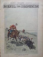 L'ILLUSTRE DU SOLEIL DU DIMANCHE 1895 N 45 HALLALI COURANT DE SANGLIER