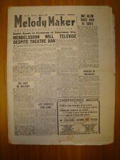 MELODY MAKER 1946 #674 JAZZ SWING MEDELSSOHN NAT ALLEN